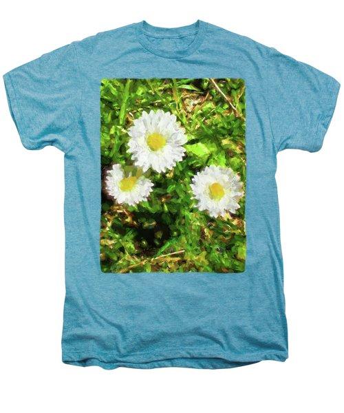 Three Daisies In The Sun Men's Premium T-Shirt by Jackie VanO