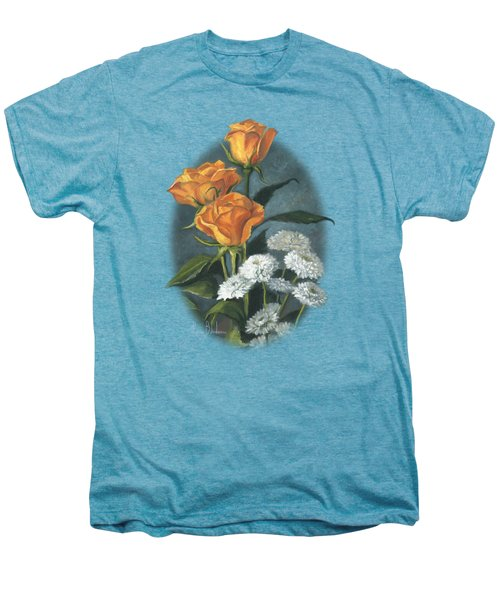 Three Roses Men's Premium T-Shirt by Lucie Bilodeau