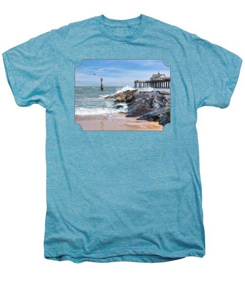 Tide's Turning - Southwold Pier Men's Premium T-Shirt by Gill Billington