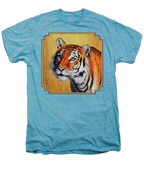 Tiger Portrait Men's Premium T-Shirt by Crista Forest