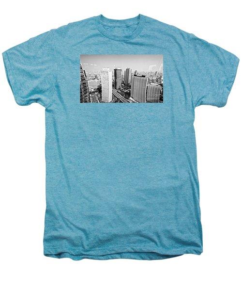 Tokyo Skyline Men's Premium T-Shirt by Pravine Chester