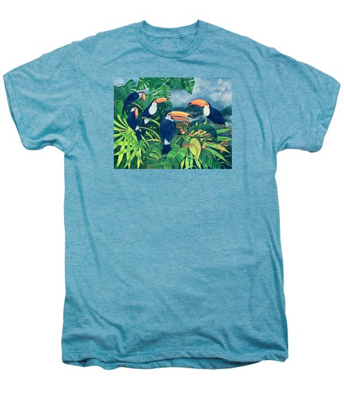 Toucan Talk Men's Premium T-Shirt by Lisa Graa Jensen