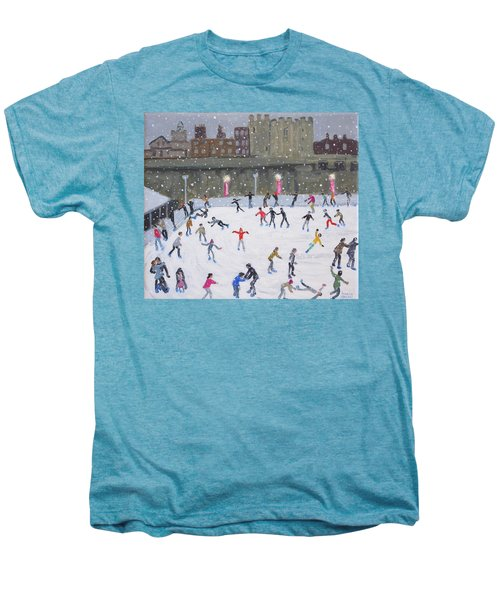 Tower Of London Ice Rink Men's Premium T-Shirt by Andrew Macara