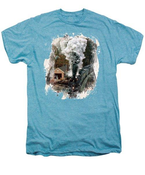 Train Days Men's Premium T-Shirt by Florentina Maria Popescu