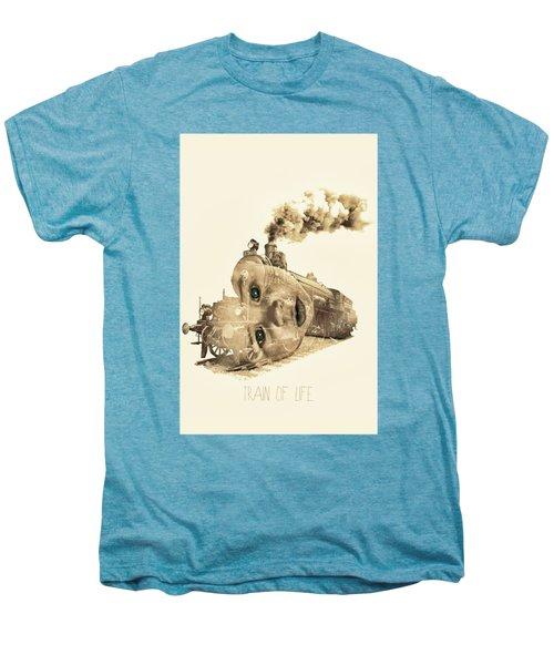Train Of Life Men's Premium T-Shirt by Mauro Mondin