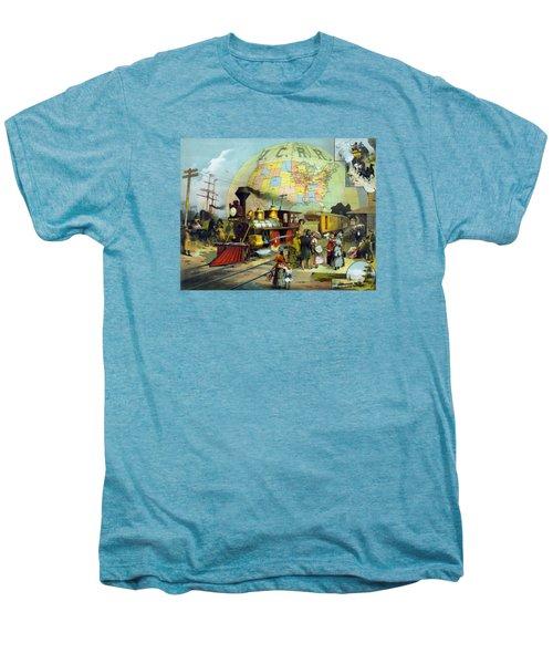 Transcontinental Railroad Men's Premium T-Shirt by War Is Hell Store