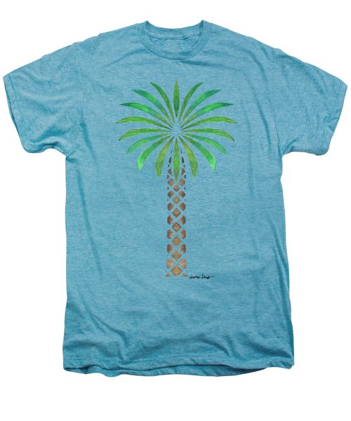 Tribal Canary Date Palm Men's Premium T-Shirt by Heather Schaefer