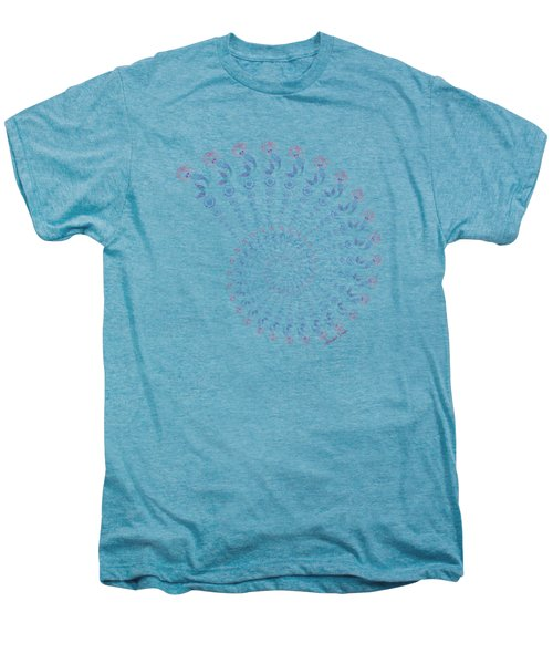 Tribal Mermaid Spiral Shell Men's Premium T-Shirt by Heather Schaefer