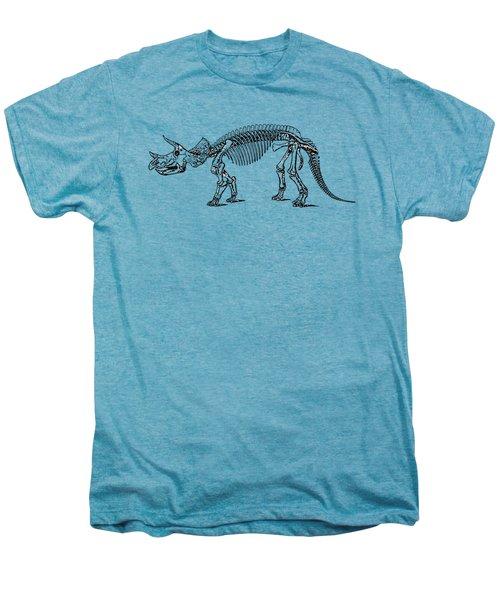Triceratops Dinosaur Tee Men's Premium T-Shirt by Edward Fielding