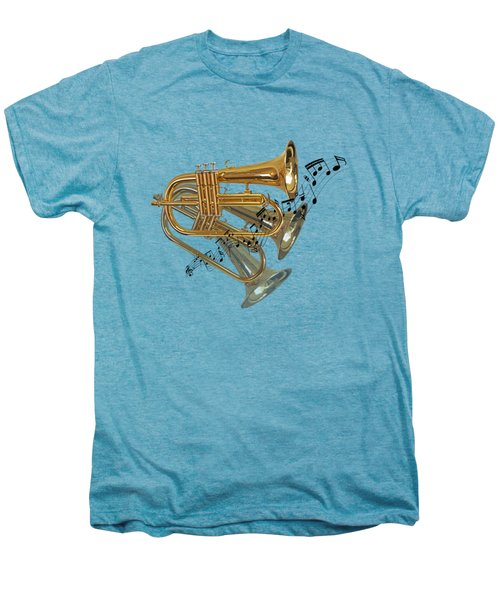 Trumpet Fanfare Men's Premium T-Shirt by Gill Billington