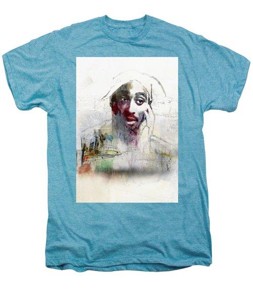 Tupac Graffitti 2656 Men's Premium T-Shirt by Jani Heinonen