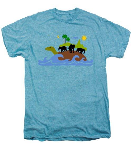 Turtles All The Way Down Men's Premium T-Shirt by Anastasiya Malakhova