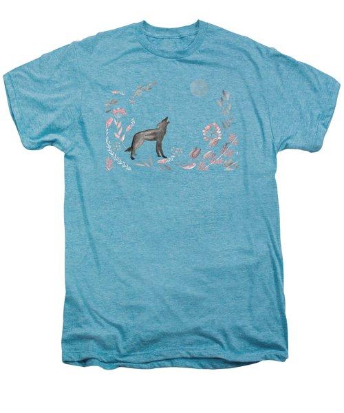 Twilight Wolf Men's Premium T-Shirt by Amanda  Lakey