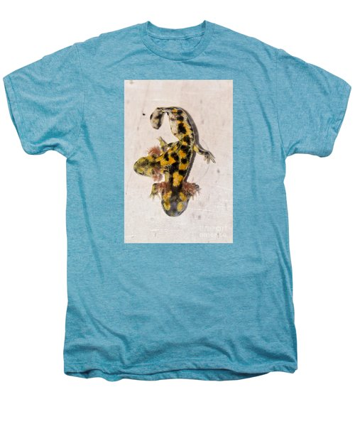 Two-headed Near Eastern Fire Salamande Men's Premium T-Shirt by Shay Levy