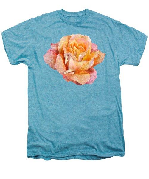 Unicorn Rose Men's Premium T-Shirt by Carol Cavalaris