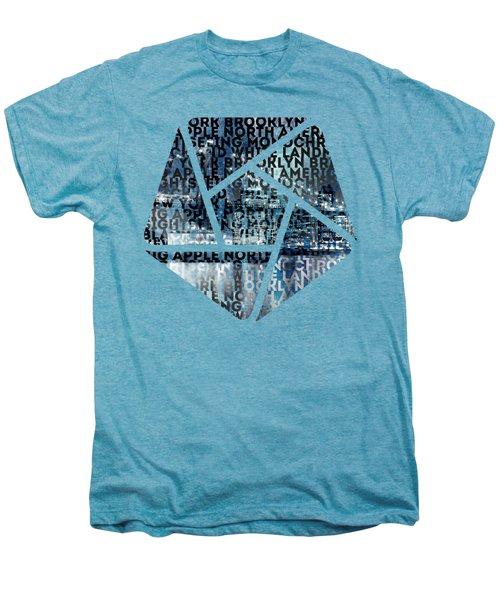 Urban-art Nyc Brooklyn Bridge I Men's Premium T-Shirt by Melanie Viola