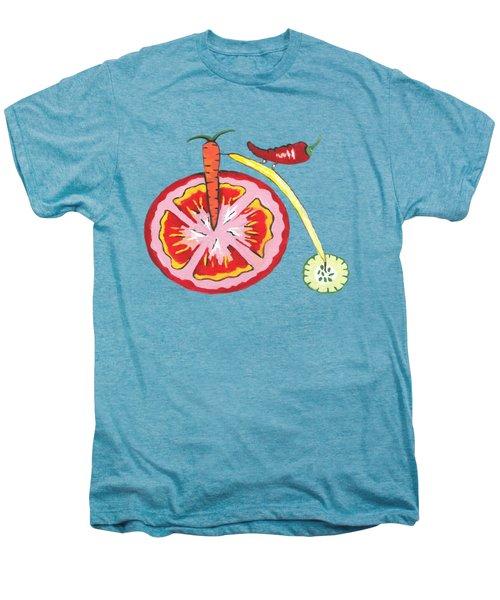 Veggie Bike Men's Premium T-Shirt by Kathleen Sartoris