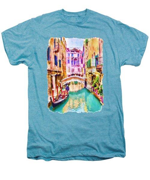 Venice Canal 2 Men's Premium T-Shirt by Marian Voicu