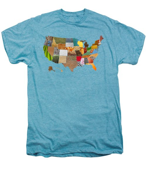 Vibrant Textures Of The United States Men's Premium T-Shirt by Design Turnpike