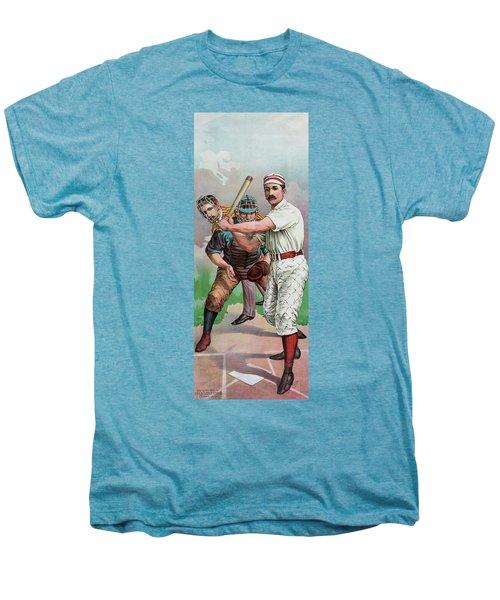 Vintage Baseball Card Men's Premium T-Shirt by American School