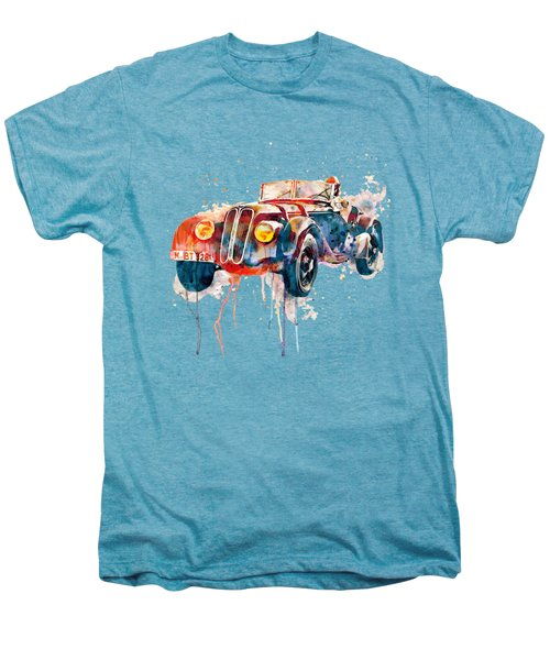 Vintage Bmw Watercolor Men's Premium T-Shirt by Marian Voicu
