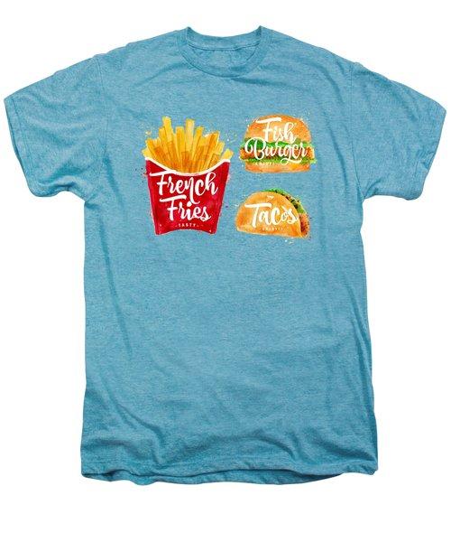 Vintage French Fries Men's Premium T-Shirt by Aloke Design