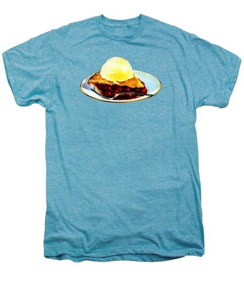 Vintage Pie A La Mode Men's Premium T-Shirt by Historic Image