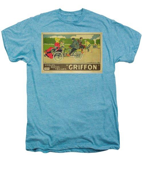 Vintage Poster Bicycle Advertisement Men's Premium T-Shirt by Walter Thor