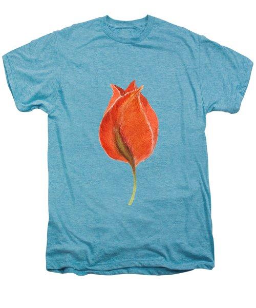 Vintage Tulip Watercolor Phone Case Men's Premium T-Shirt by Edward Fielding