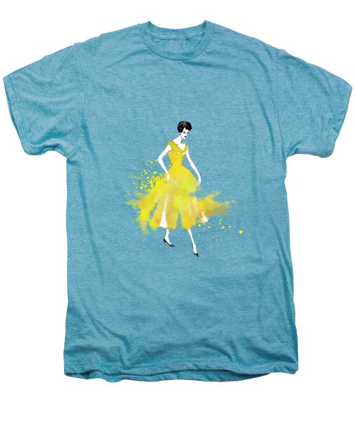 Vintage Yellow Dress Men's Premium T-Shirt by Diana Van