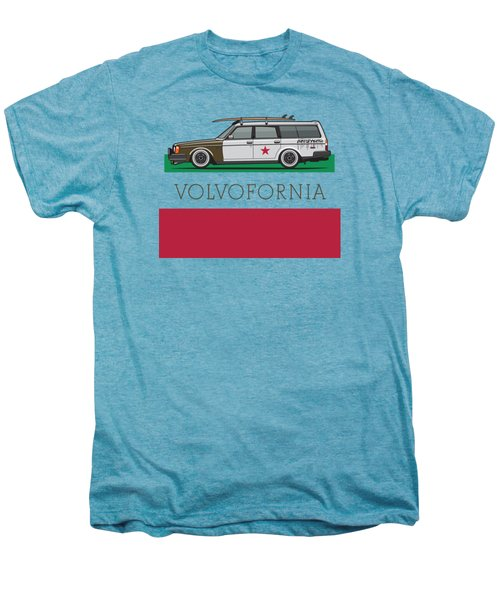 Volvofornia Slammed Volvo 245 240 Wagon California Style Men's Premium T-Shirt by Monkey Crisis On Mars