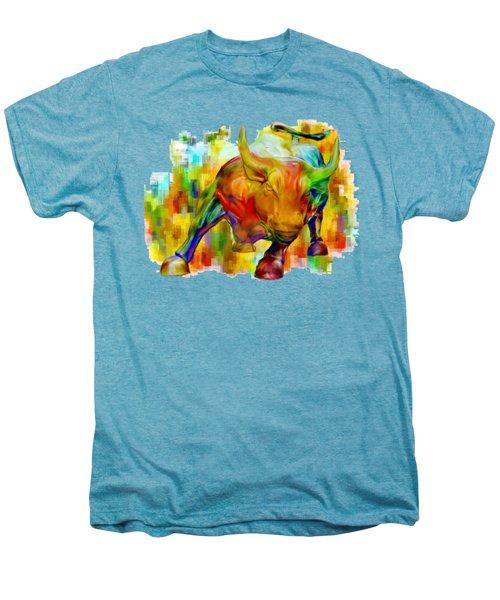 Wall Street Bull Men's Premium T-Shirt by Jack Zulli