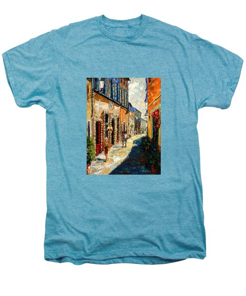 Warmth Of A Barcelona Street Men's Premium T-Shirt by Andre Dluhos