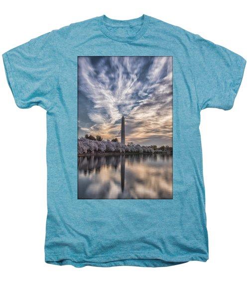 Washington Blossom Sunrise Men's Premium T-Shirt by Erika Fawcett