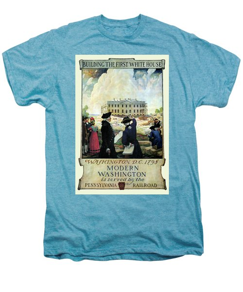 Washington D C Vintage Travel 1932 Men's Premium T-Shirt by Daniel Hagerman