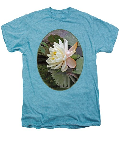 Water Lily Reflections Men's Premium T-Shirt by Gill Billington