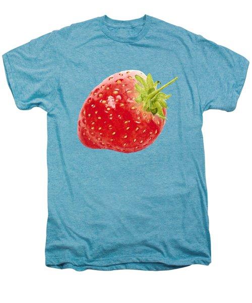 Watercolor Strawberry Men's Premium T-Shirt by Kathleen Skinner