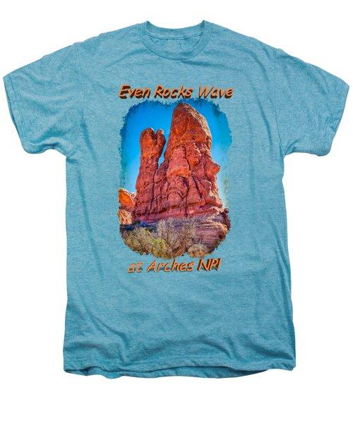 Waving Rock Men's Premium T-Shirt by John M Bailey