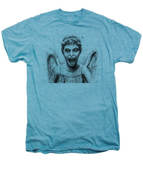 Weeping Angel Watercolor - Don't Blink Men's Premium T-Shirt by Olga Shvartsur