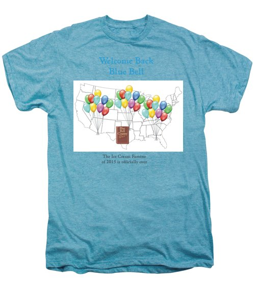 Welcome Back Blue Bell Men's Premium T-Shirt by Jacquie King