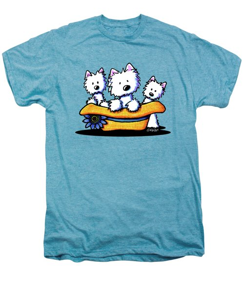 Westie Hat Trio Men's Premium T-Shirt by Kim Niles