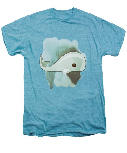 Whale Art - Bright Ocean Life Pastel Color Artwork Men's Premium T-Shirt by Wall Art Prints
