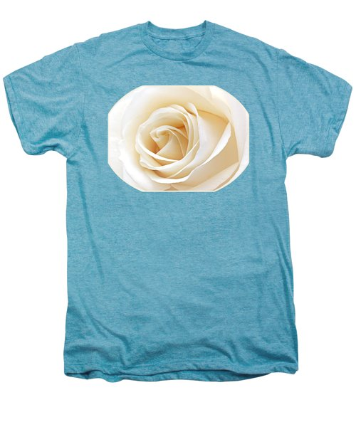 White Rose Heart Men's Premium T-Shirt by Gill Billington