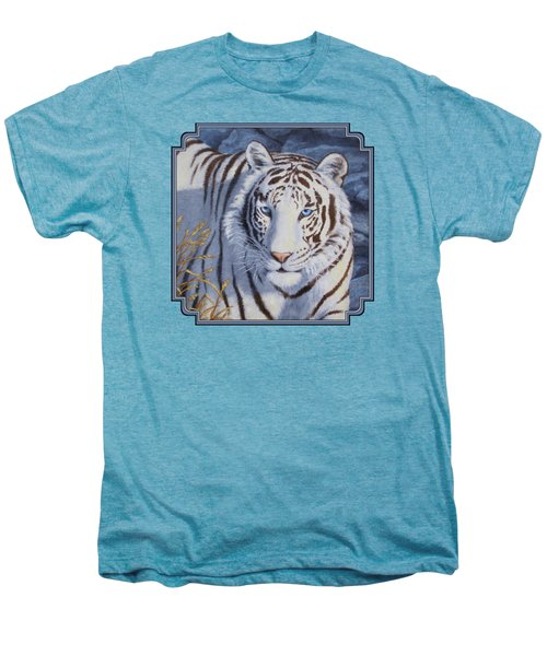 White Tiger - Crystal Eyes Men's Premium T-Shirt by Crista Forest