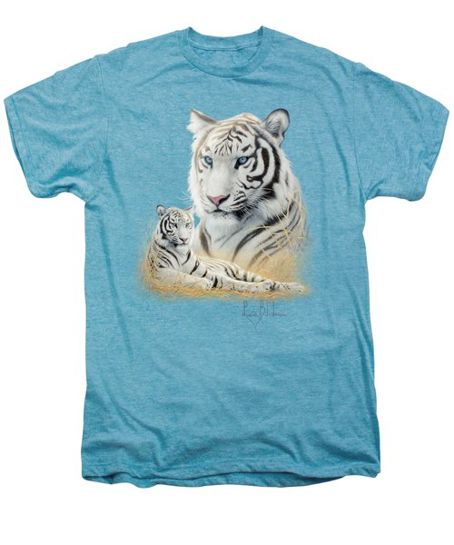 White Tiger Men's Premium T-Shirt by Lucie Bilodeau