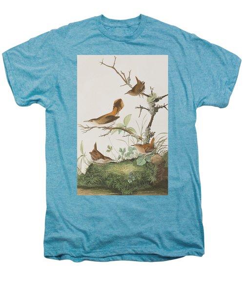 Winter Wren Or Rock Wren Men's Premium T-Shirt by John James Audubon