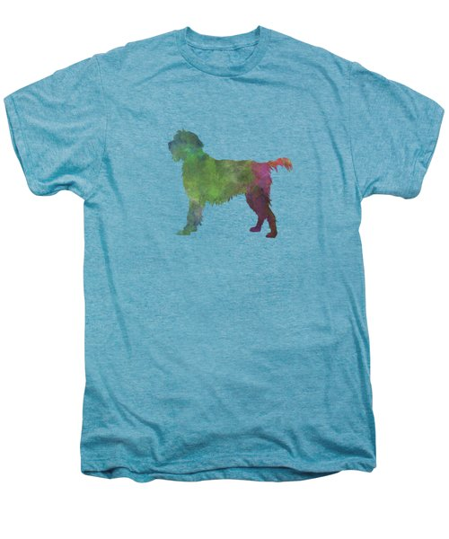 Wirehaired Pointing Griffon Korthals In Watercolor Men's Premium T-Shirt by Pablo Romero