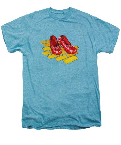 Wizard Of Oz Ruby Slippers Men's Premium T-Shirt by Irina Sztukowski