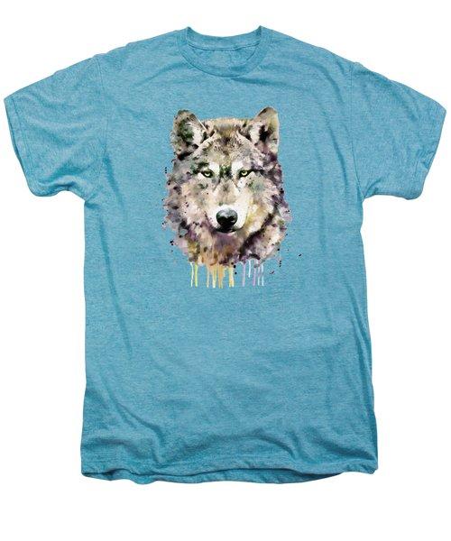 Wolf Head Men's Premium T-Shirt by Marian Voicu