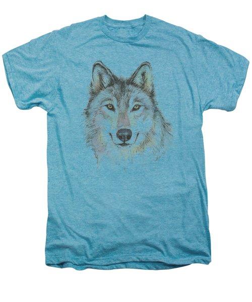Wolf Men's Premium T-Shirt by Olga Shvartsur